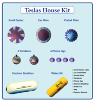 Teslas House-Kit Takes care of the main areas in your life that are in need of energy balance.