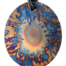 Teslas Adult Star Burst Oval Pendant - The pendant has the effect of strengthening the wearers energy field, thus helping to alleviate the bio-energy effects of some man-made EMF/EMR.