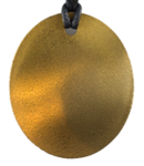 Teslas Adult Gold Oval Pendant - The pendant has the effect of strengthening the wearers energy field, thus helping to alleviate the bio-energy effects of some man-made EMF/EMR.