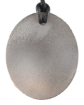 Teslas Adult Silver Oval Pendant - The pendant has the effect of strengthening the wearers energy field, thus helping to alleviate the bio-energy effects of some man-made EMF/EMR.