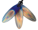 Teslas Adult Flame Surfboard Pendant - The pendant has the effect of strengthening the wearers energy field, thus helping to alleviate the bio-energy effects of some man-made EMF/EMR.