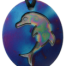 Teslas Teen Single Dolphin Blue/Patterned Pendant - The pendant has the effect of strengthening the wearers energy field, thus helping to alleviate the bio-energy effects of some man-made EMF/EMR.