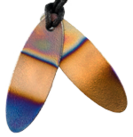 Teslas Teen Multi- Coloured Surfboard Pendant - The pendant has the effect of strengthening the wearers energy field, thus helping to alleviate the bio-energy effects of some man-made EMF/EMR.