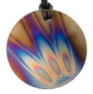 Teslas Adult Flame Round Pendant - The pendant has the effect of strengthening the wearers energy field, thus helping to alleviate the bio-energy effects of some man-made EMF/EMR. Oval Pendant - The pendant has the effect of strengthening the wearers energy field, thus helping to alleviate the bio-energy effects of some man-made EMF/EMR