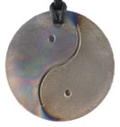 Teslas Adult Yin/Yang Patterned/Silver Round Pendant - The pendant has the effect of strengthening the wearers energy field, thus helping to alleviate the bio-energy effects of some man-made EMF/EMR. Oval Pendant - The pendant has the effect of strengthening the wearers energy field, thus helping to alleviate the bio-energy effects of some man-made EMF/EMR