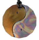Teslas Adult Yin/Yang Patterned/Gold 14 Sided Pendant - The pendant has the effect of strengthening the wearers energy field, thus helping to alleviate the bio-energy effects of some man-made EMF/EMR. Oval Pendant - The pendant has the effect of strengthening the wearers energy field, thus helping to alleviate the bio-energy effects of some man-made EMF/EMR