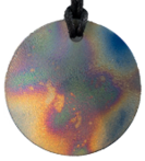 Teslas Adult Patterned Round Pendant - The pendant has the effect of strengthening the wearers energy field, thus helping to alleviate the bio-energy effects of some man-made EMF/EMR. Oval Pendant - The pendant has the effect of strengthening the wearers energy field, thus helping to alleviate the bio-energy effects of some man-made EMF/EMR