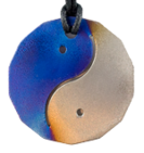 Teslas Adult Yin/Yang Blue/Silver 14 Sided Pendant - The pendant has the effect of strengthening the wearers energy field, thus helping to alleviate the bio-energy effects of some man-made EMF/EMR. Oval Pendant - The pendant has the effect of strengthening the wearers energy field, thus helping to alleviate the bio-energy effects of some man-made EMF/EMR