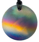Teslas Adult Aurora Round Pendant - The pendant has the effect of strengthening the wearers energy field, thus helping to alleviate the bio-energy effects of some man-made EMF/EMR. Oval Pendant - The pendant has the effect of strengthening the wearers energy field, thus helping to alleviate the bio-energy effects of some man-made EMF/EMR