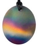 Teslas Adult Aurora Oval Pendant - The pendant has the effect of strengthening the wearers energy field, thus helping to alleviate the bio-energy effects of some man-made EMF/EMR. Oval Pendant - The pendant has the effect of strengthening the wearers energy field, thus helping to alleviate the bio-energy effects of some man-made EMF/EMR.