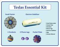 Teslas-Essential-Kit Takes care of the main areas in your life that are in need of energy balance. The Electron Stabiliser turns that chaotic energy back into a coherent field of energy.